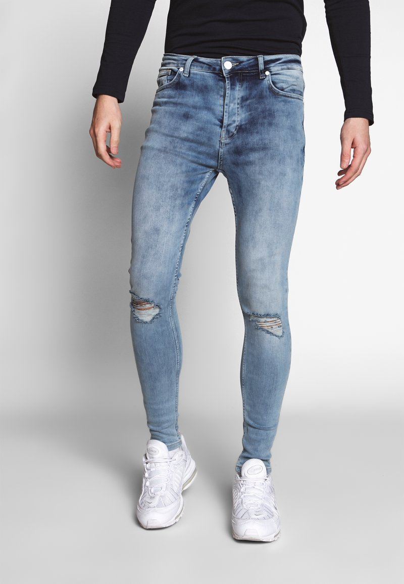 Gym King - WITH KNEE RIPS - Jeans Skinny Fit - light blue