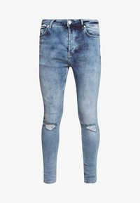 Gym King - WITH KNEE RIPS - Jeans Skinny Fit - light blue - 4