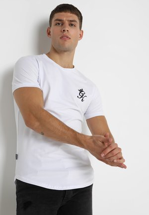 LONG LINE CURVE TEE - T-Shirt print - white