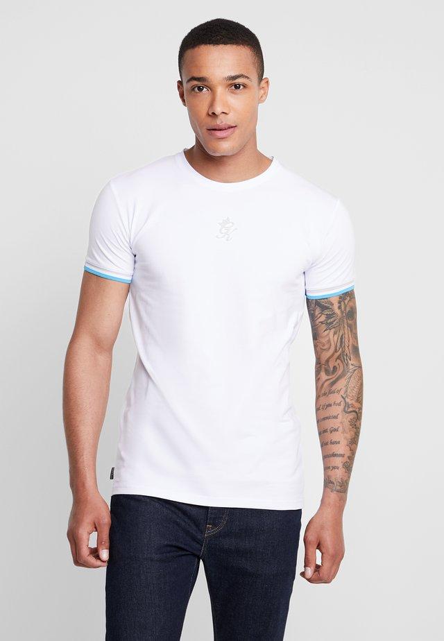 VEGAS TEE - T-Shirt print - white/blue