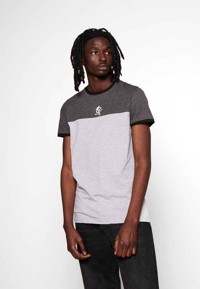 ORIGIN PANEL - Print T-shirt - charcoal marl/grey marl