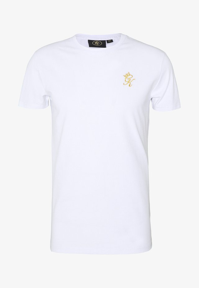 ORIGIN - T-shirt imprimé - white/gold