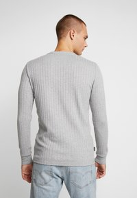Gym King - MUSCLE FIT CREW NECK JUMPER - Trui - grey marl - 2