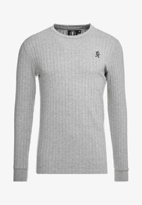 Gym King - MUSCLE FIT CREW NECK JUMPER - Trui - grey marl - 3