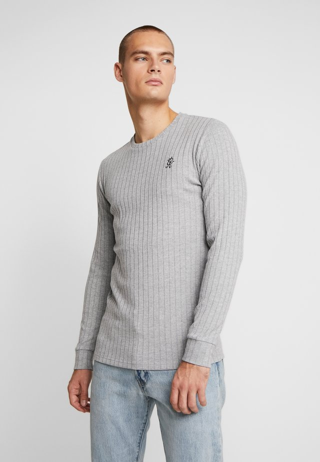 MUSCLE FIT CREW NECK JUMPER - Strickpullover - grey marl