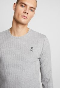 Gym King - MUSCLE FIT CREW NECK JUMPER - Trui - grey marl - 4