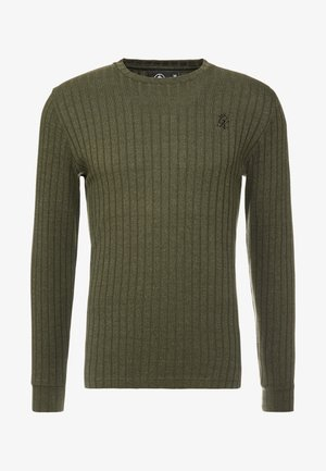 CREW NECK JUMPER MUSCLE FIT - Trui - forest