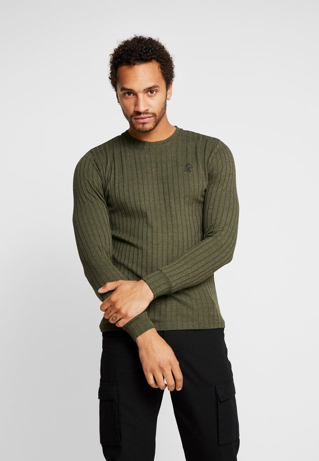 CREW NECK JUMPER MUSCLE FIT - Strickpullover - forest