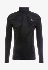 Gym King - MUSCLE FIT ROLL NECK  - Stickad tröja - black - 4