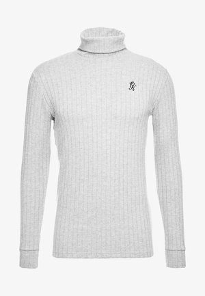 MUSCLE FIT ROLL NECK JUMPER  - Pullover - grey marl