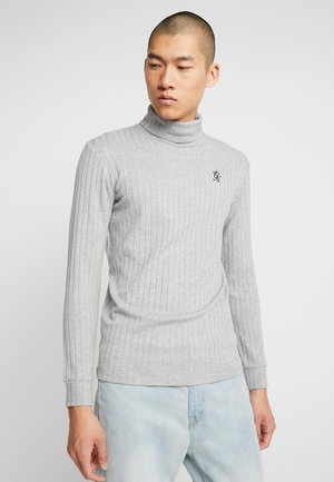MUSCLE FIT ROLL NECK JUMPER  - Neule - grey marl