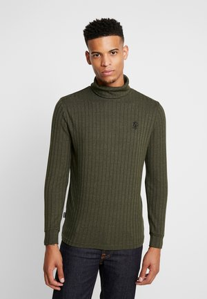 MUSCLE FIT ROLL NECK JUMPER  - Jumper - forest green