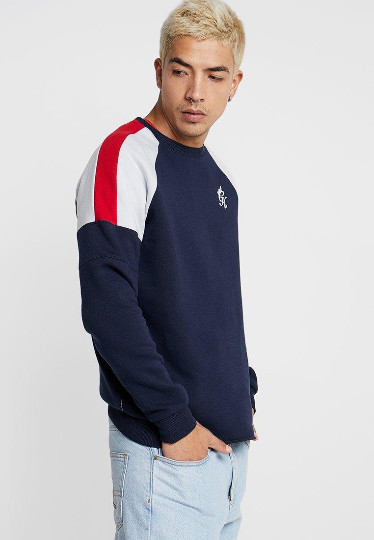 Gym King - CORE PLUS CONTRAST CREW - Sweatshirt - navy
