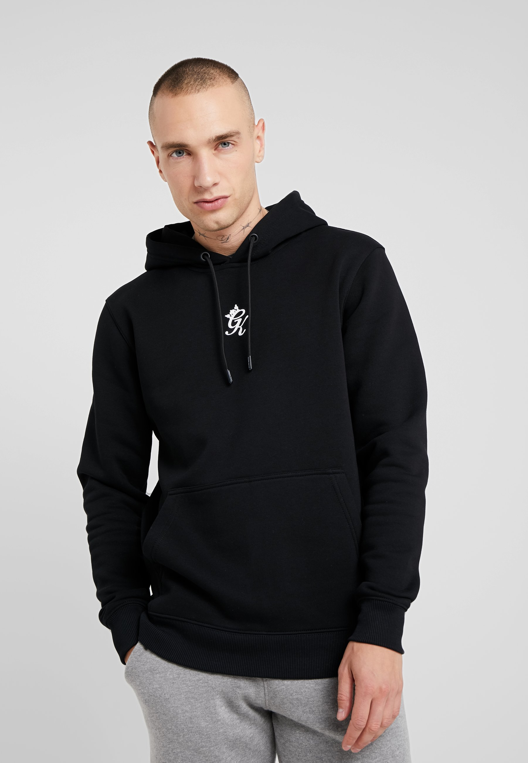 Gym King LOGO HOOD - Bluza z kapturem - black
