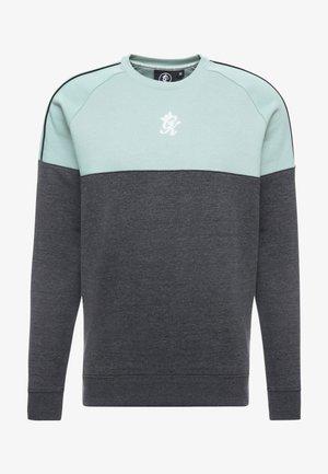 CREA CREW NECK - Sweater - charcoal marl/green mist/white