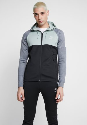LOMBARDI TRACKSUIT TOP - Training jacket - black/green mist/charcoal marl