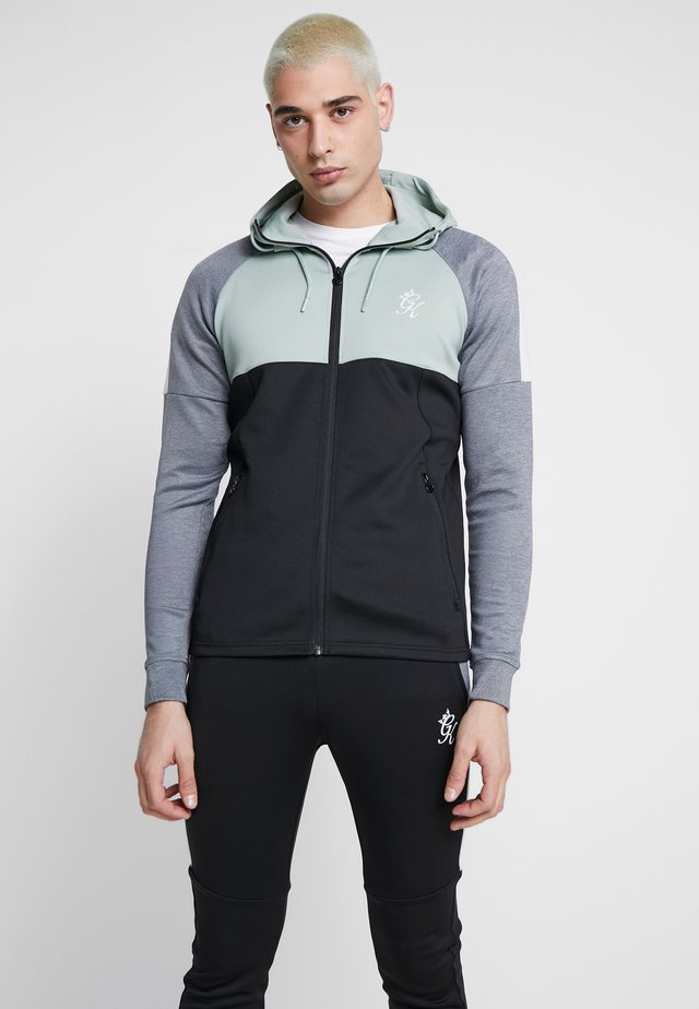 LOMBARDI TRACKSUIT TOP - Giacca sportiva - black/green mist/charcoal marl