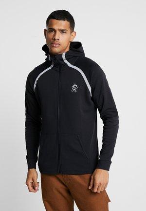 KHAN TRACKSUIT TOP - veste en sweat zippée - black