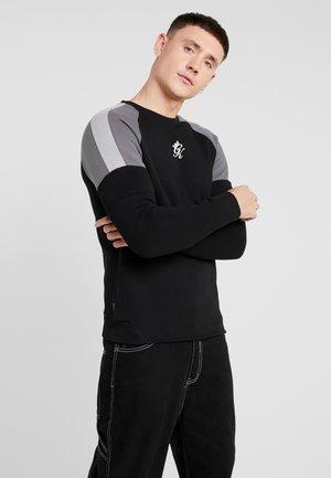 CORE PLUS CONTRAST - Sweatshirt - black/dark grey/silver grey