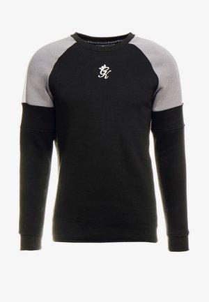 CORE PLUS CONTRAST - Sweater - black/dark grey/silver grey