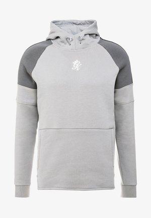 CORE PLUS CONTRAST OVERHEAD HOODIE - Hoodie - silver grey/dark grey/black