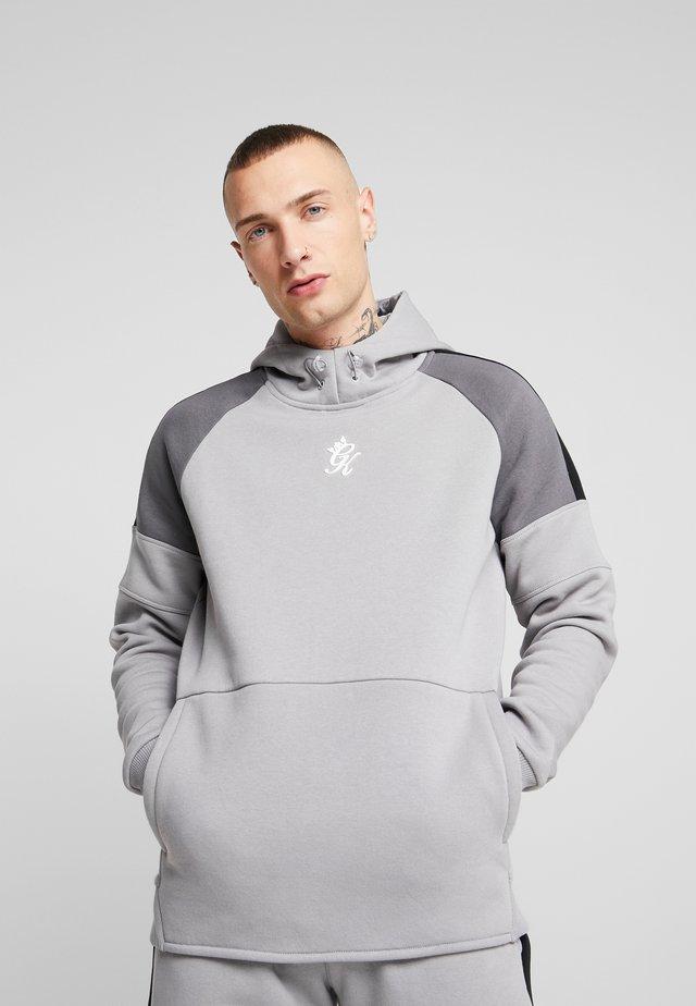 CORE PLUS CONTRAST OVERHEAD HOODIE - Jersey con capucha - silver grey/dark grey/black