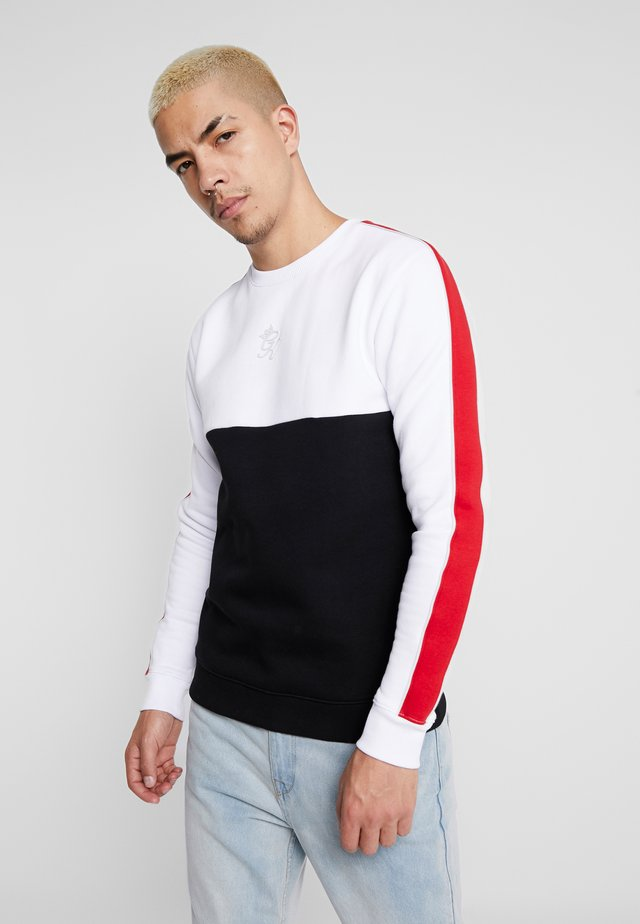 LETTO CREW NECK - Sweater - white/black/red