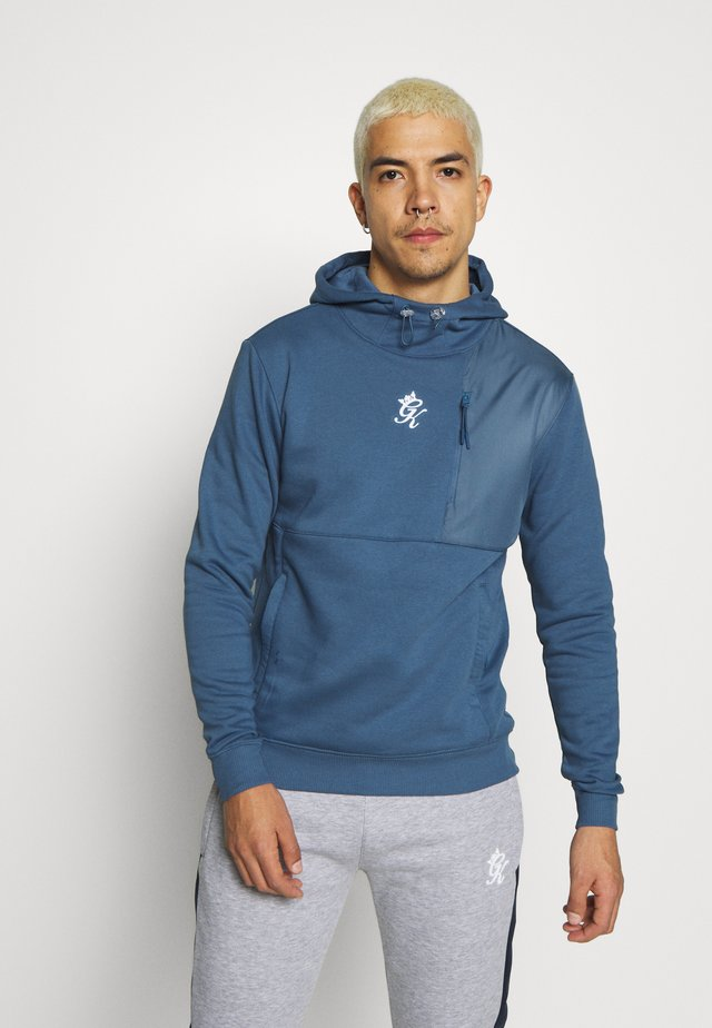 HOODIE WITH PANEL OVERLAY - Jersey con capucha - bearing sea