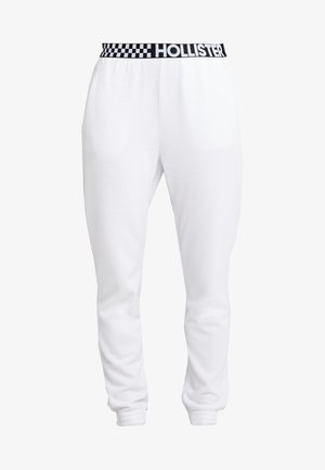 HIGH RISE JOGGER WITH LOGO ELASTIC BAND - Pantalones deportivos - white