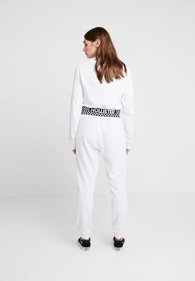Survêtement Logo Hollister Rise Jogger White With Elastic De CoHigh BandPantalon roQdxeEBWC