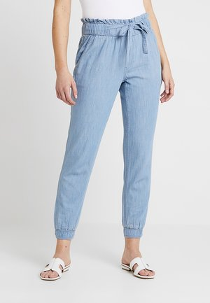PAPERBAG WAIST JOGGER - Spodnie materiałowe - medium chambray