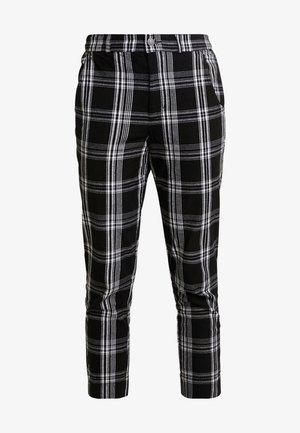 OXFORD TAPERED PANT - Broek - black pattern