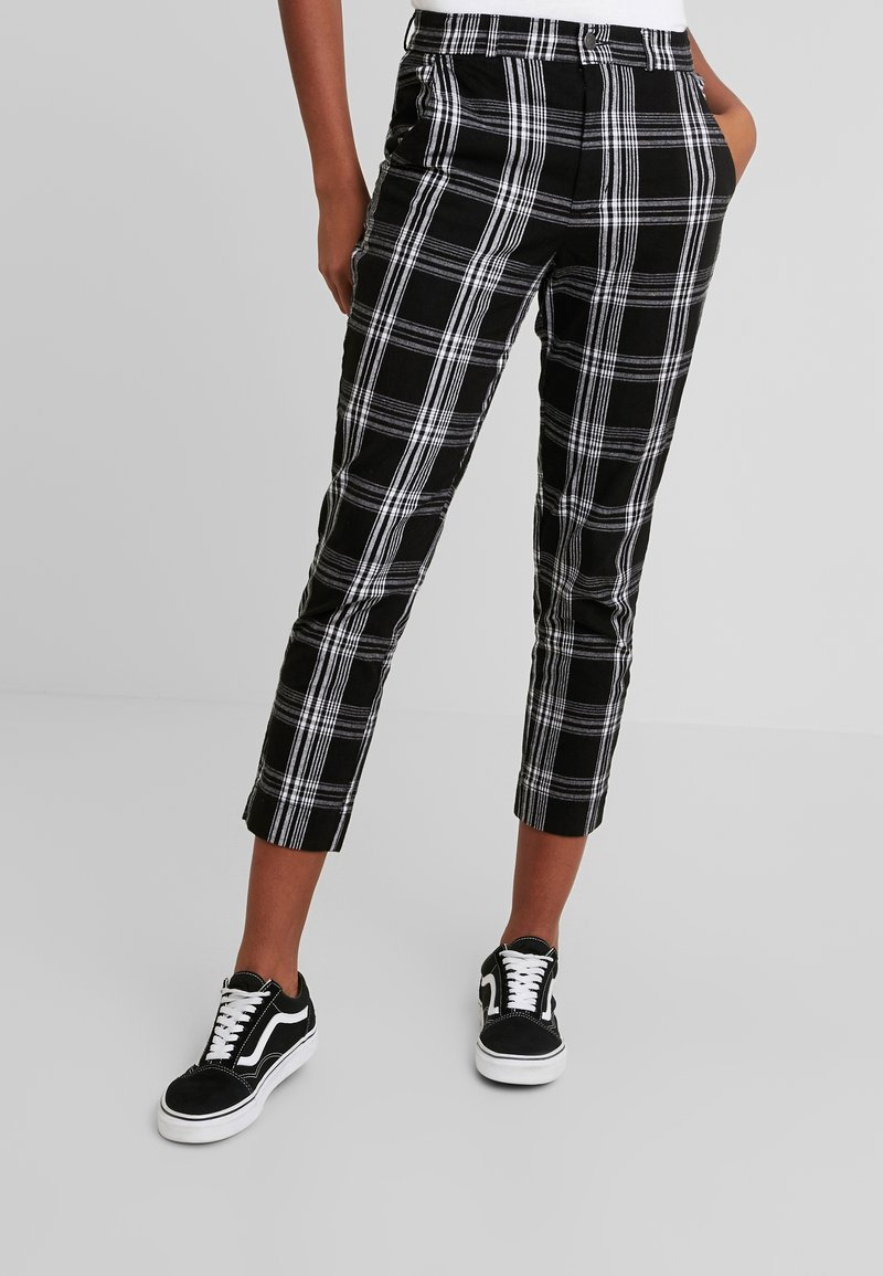 Hollister Co. - OXFORD TAPERED PANT - Stoffhose - black pattern
