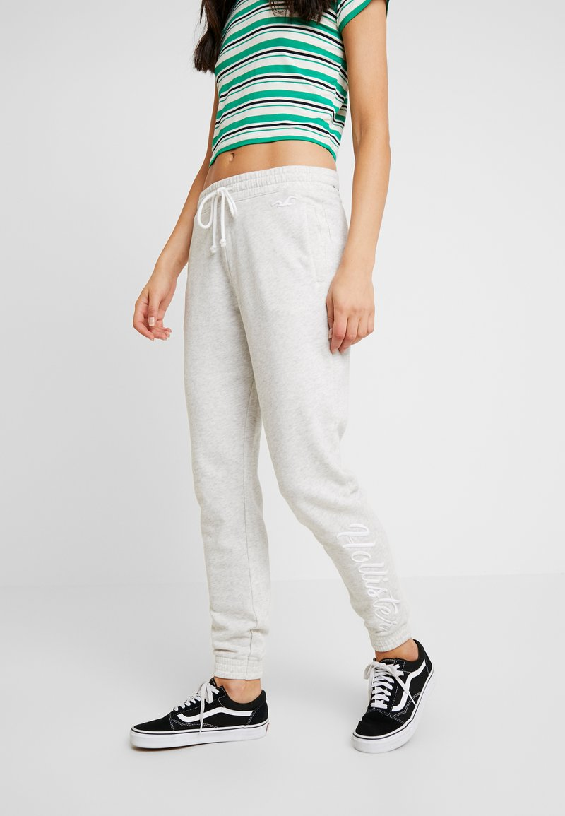Hollister Co. - LOGO JOGGER - Tracksuit bottoms - grey