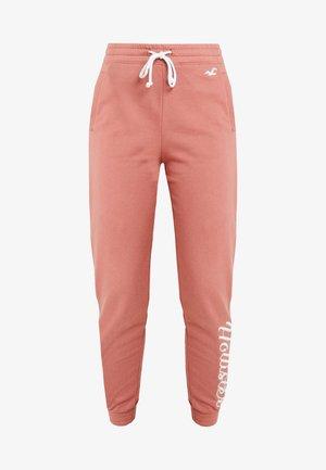 LOGO JOGGER - Pantaloni sportivi - canyon rose