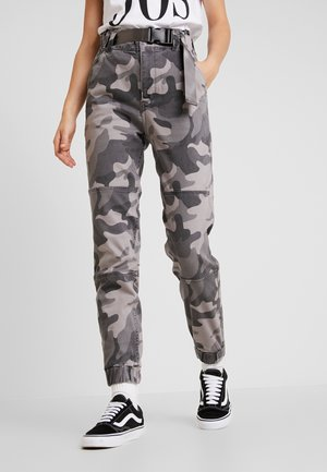 PAPER BAG WAIST - Pantaloni - grey
