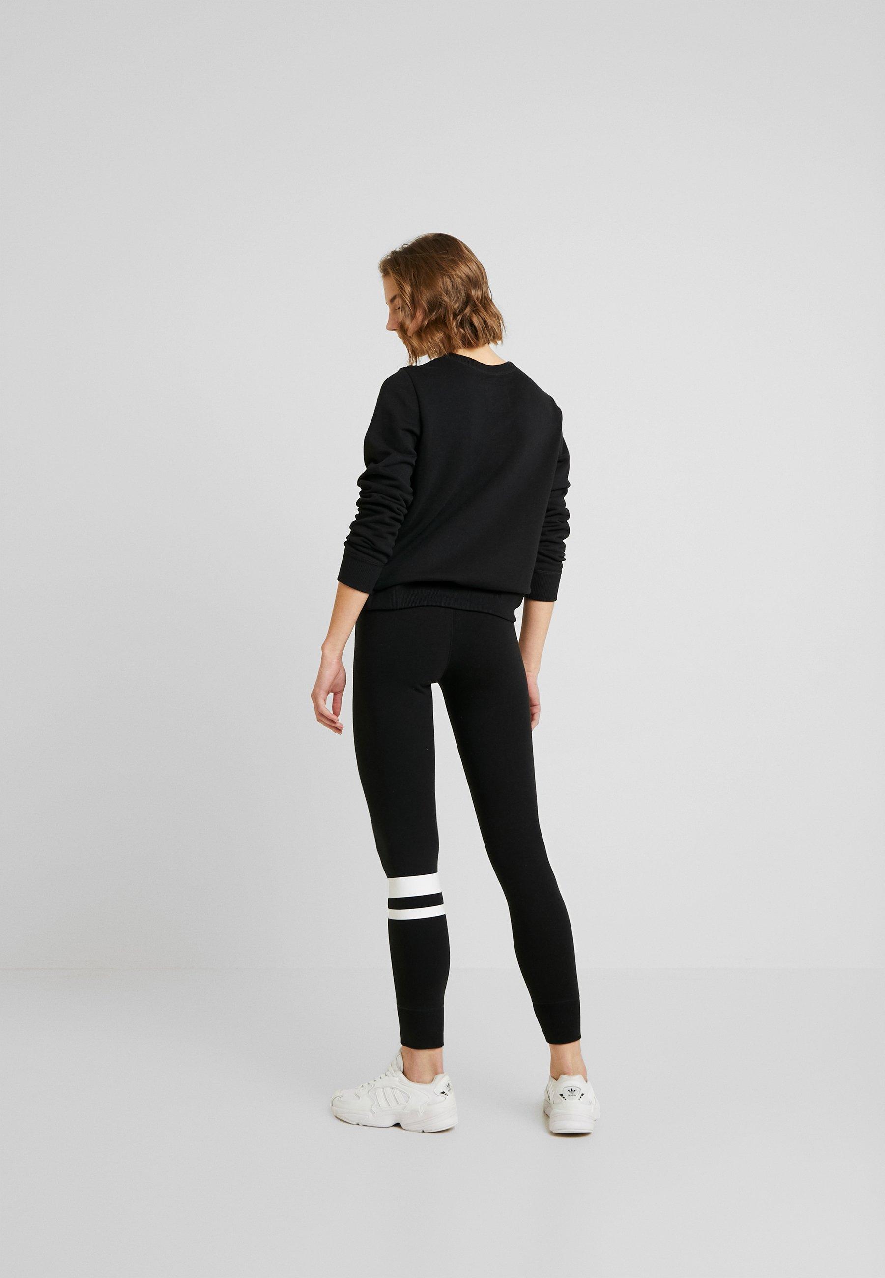 Hollister Co. SPORTY LOGO FLEGGING - Leggings - Trousers - black