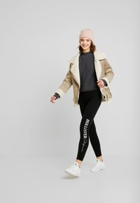 Hollister Co. - LOGO FLEGGING - Leggings - black - 1