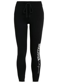 Hollister Co. - LOGO FLEGGING - Leggings - black - 0