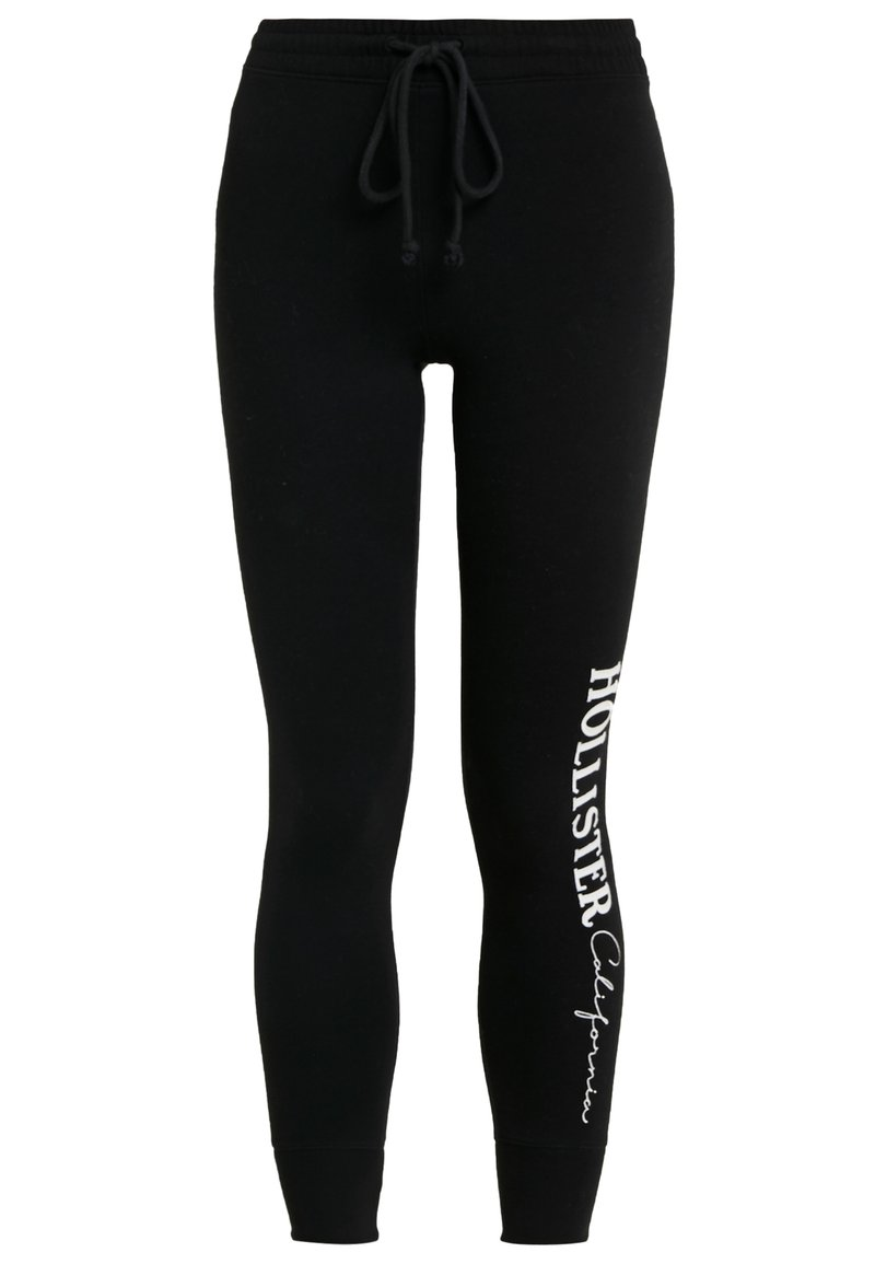 Hollister Co. - LOGO FLEGGING - Leggings - black