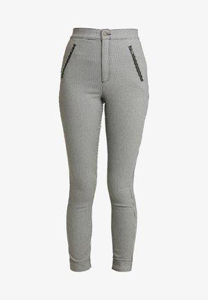 PLAID SUPER - Pantalones - grey