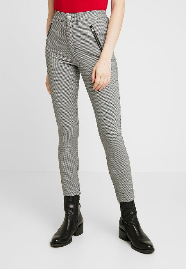 PLAID SUPER - Trousers - grey
