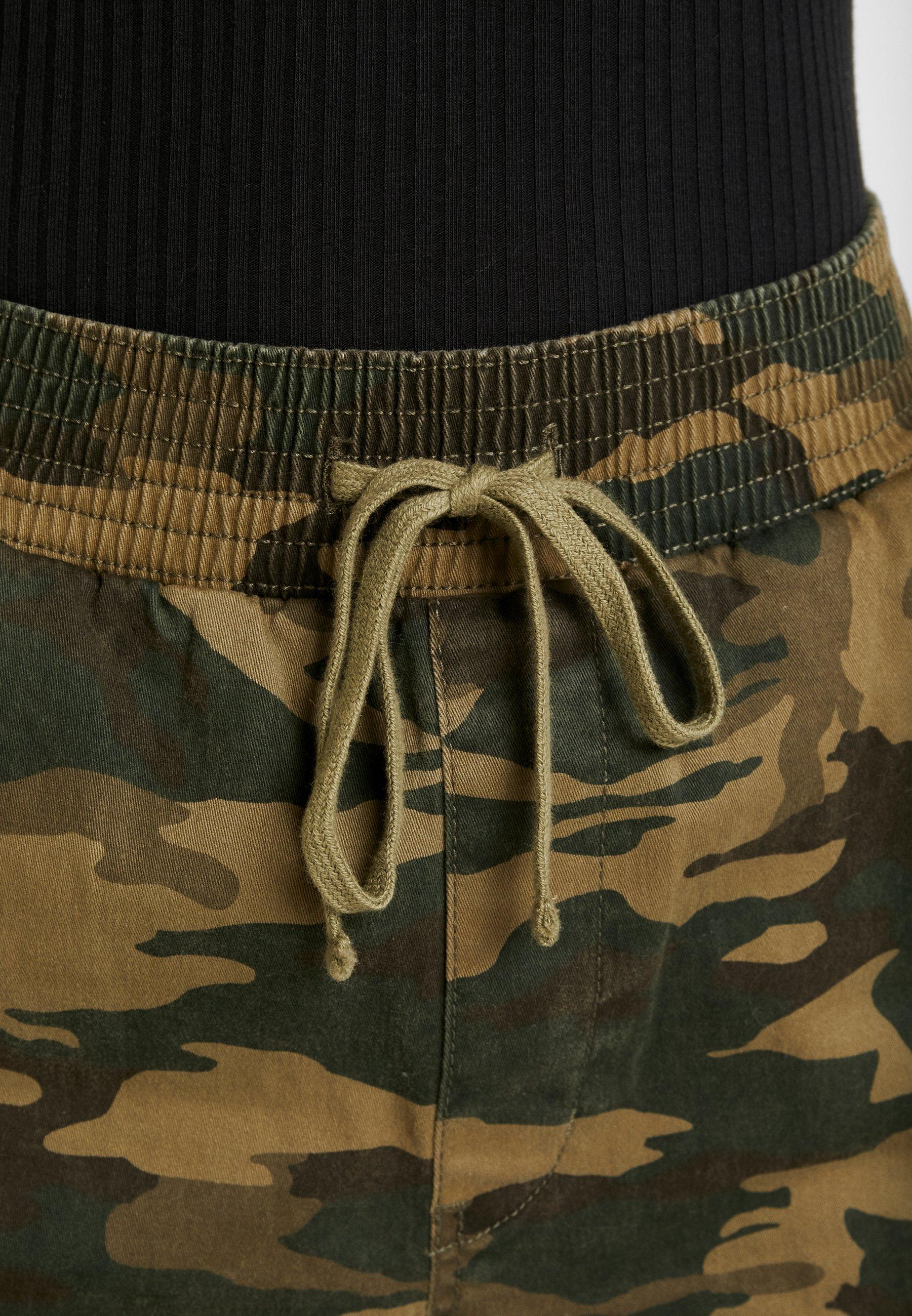 Hollister Co. JOGGER TRIM - Spodnie materiałowe - olive