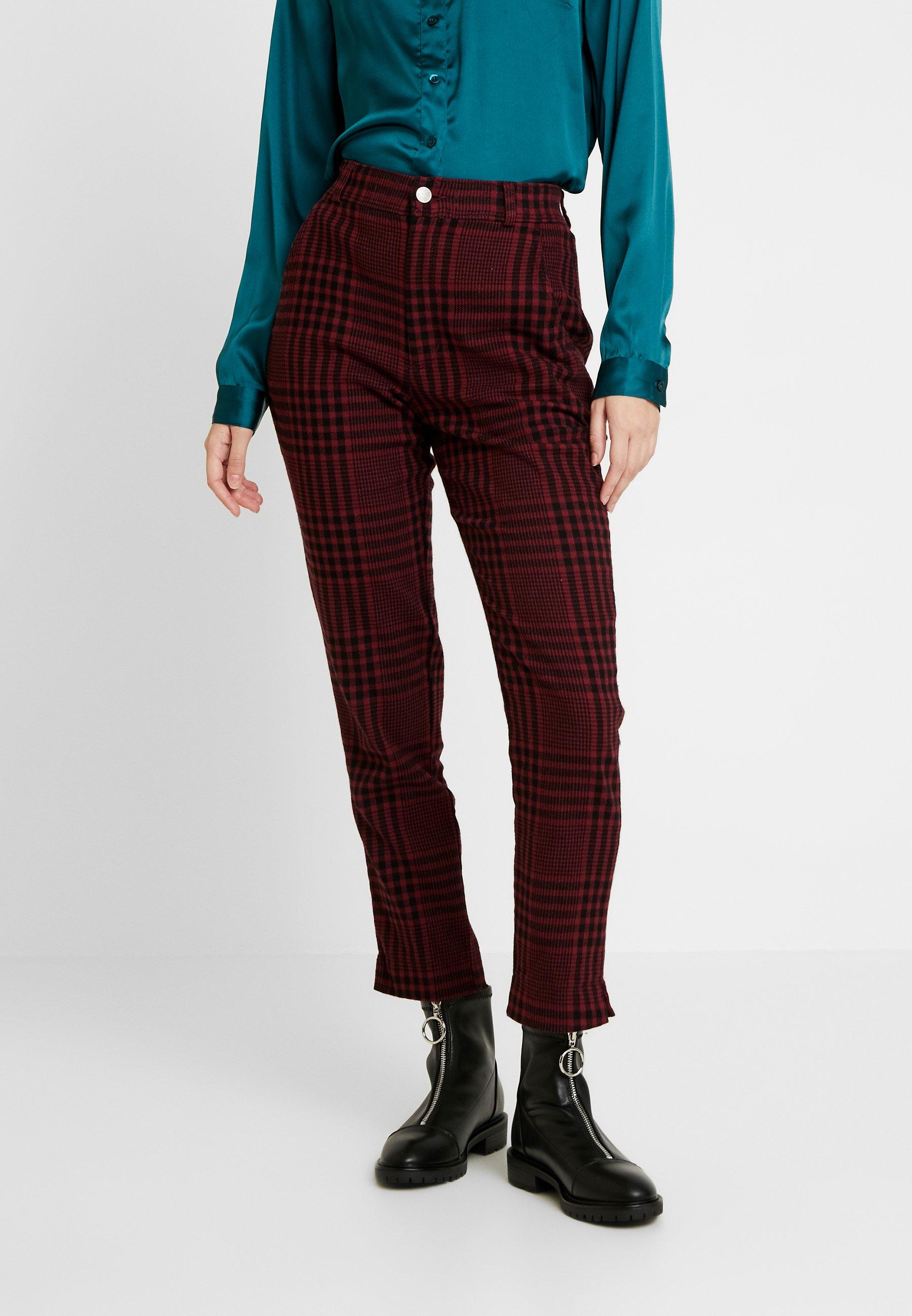 Hollister Co. OXFORD - Pantalon classique red/black