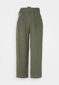 Hollister Co. - WIDE LEG  - Pantaloni - olive - 4