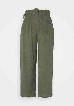 WIDE LEG  - Pantaloni - olive