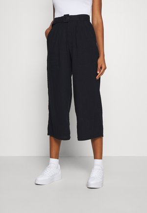 WIDE LEG  - Trousers - black