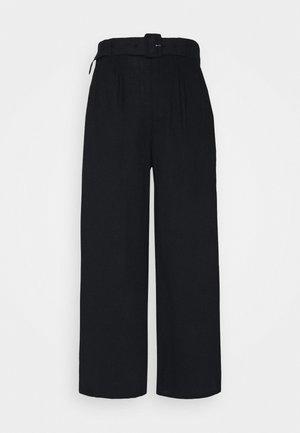 WIDE LEG  - Trousers - black
