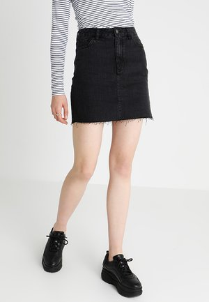 HIGH RISE SKIRT - Áčková sukně - black