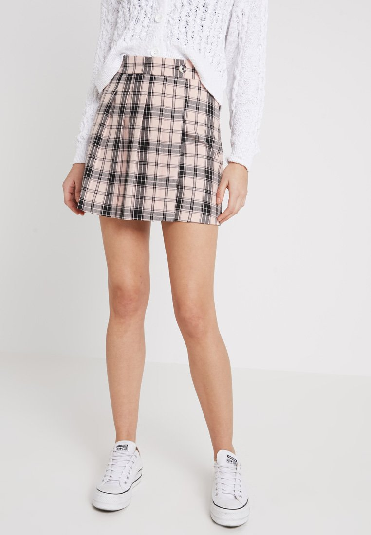 Hollister Co. - PLEATED SKIRT - A-Linien-Rock - pink